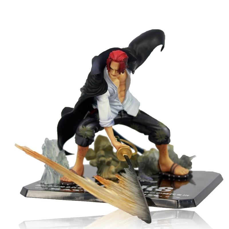 """Frete Grátis Fresco 7.5 """"One Piece Yonko"""" Vermelho-de Cabelos Compridos """"Shanks Batalha Ver. OPFG335 encaixotado PVC Action Figure Toy Model Collection"""
