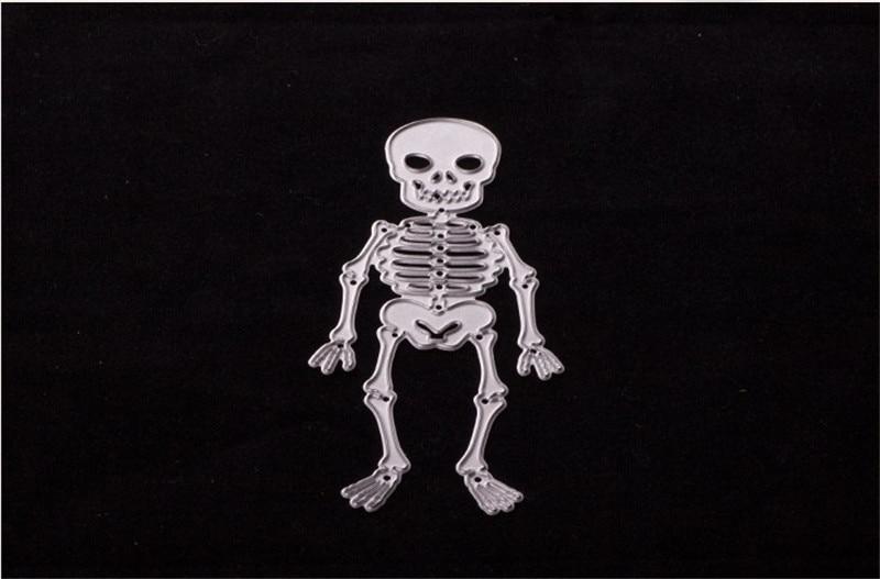 Skeleton Metal Cutting Dies Stencils Girl for DIY Scrapbooking Photo Album Decorative Embossing Paper Cards