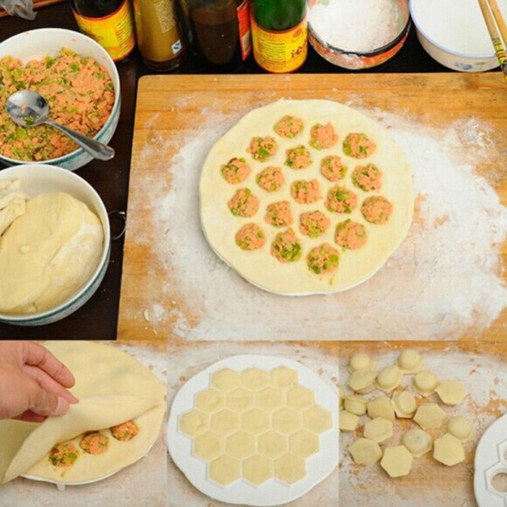 37 agujeros de aleación de aluminio Dumplings molde de cocina prensa de masa DIY molde de cocina de grado alimenticio utensilios de hacer Dumpling de pastelería nuevo
