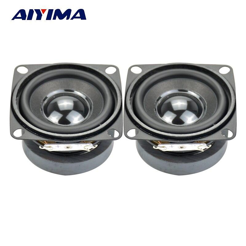 AIYIMA 2 шт. сабвуфер HIFI 2 дюйма 4 Ом 5 Вт полный спектр динамик мини-сабвуфер s DIY аудио сабвуфер громкий динамик