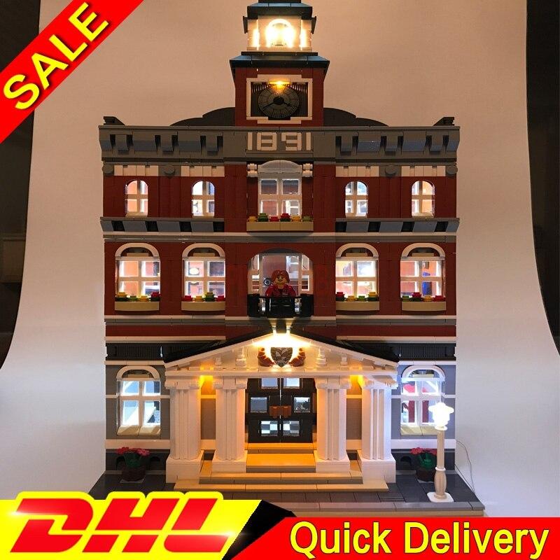Leleingsings 15003 DIY luz led calle salón edificio conjunto ciudad bloques modelo auto-bloqueo ladrillos leleingsToys 10224