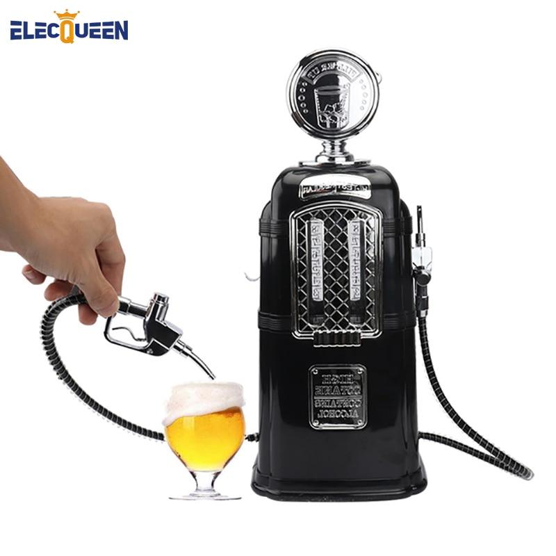 موزع بيرة أسود بمسدسات مزدوجة ، مضخة مشروبات كحول ، مشروبات غازية ، أدوات بار