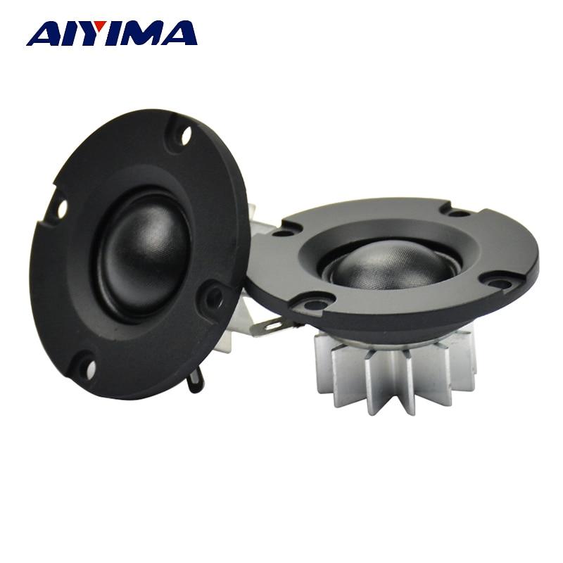 AIYIMA 2Pcs 2 Inch Tweeter 6 Ohm 15W Audio Speaker Units 20 Core Silk Film Neodymium Speaker Amplifier Home Sound Theater DIY