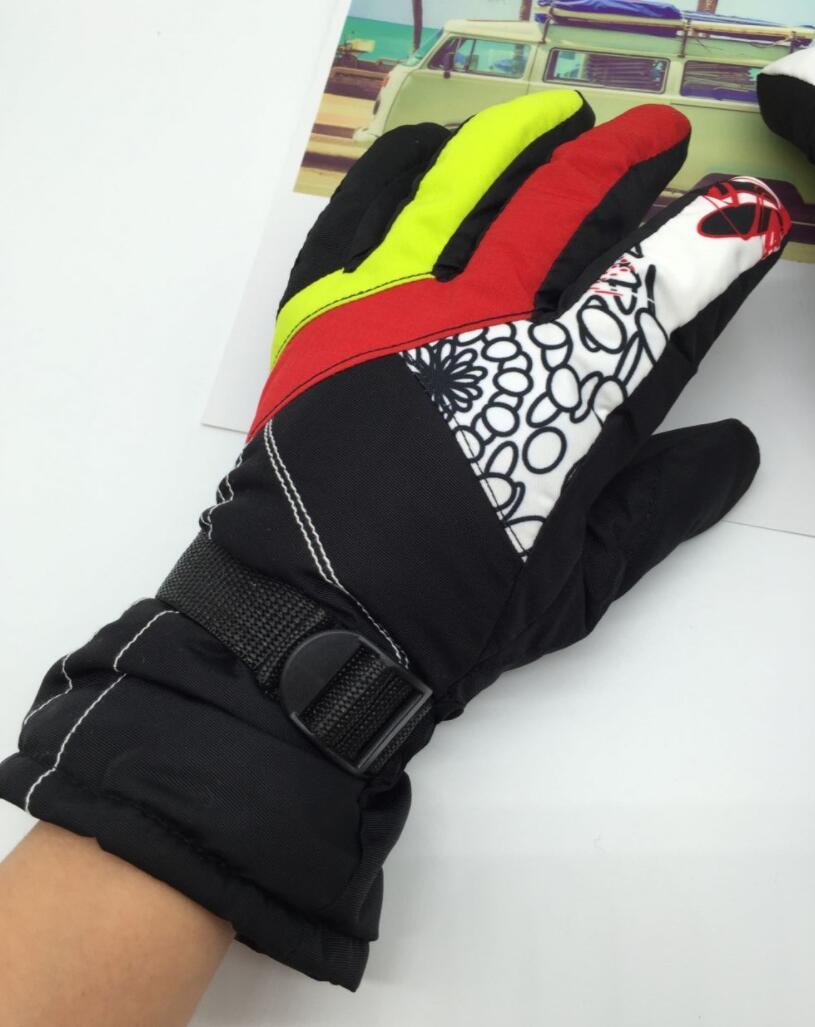 Los niños guantes de invierno cálido bebé guantes para chicos niños de esquí al aire libre guantes de niño a prueba de viento mitones a prueba de agua para 7-11 años de edad los niños
