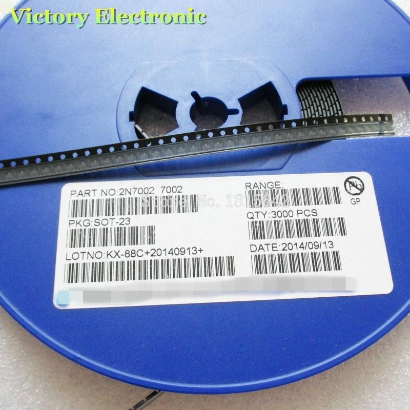 100 unids/lote 2N7002LT1G SOT23 2N7002 SOT SMD 702 señal pequeña MOSFET 60V 115 mA n-canal nuevo y original