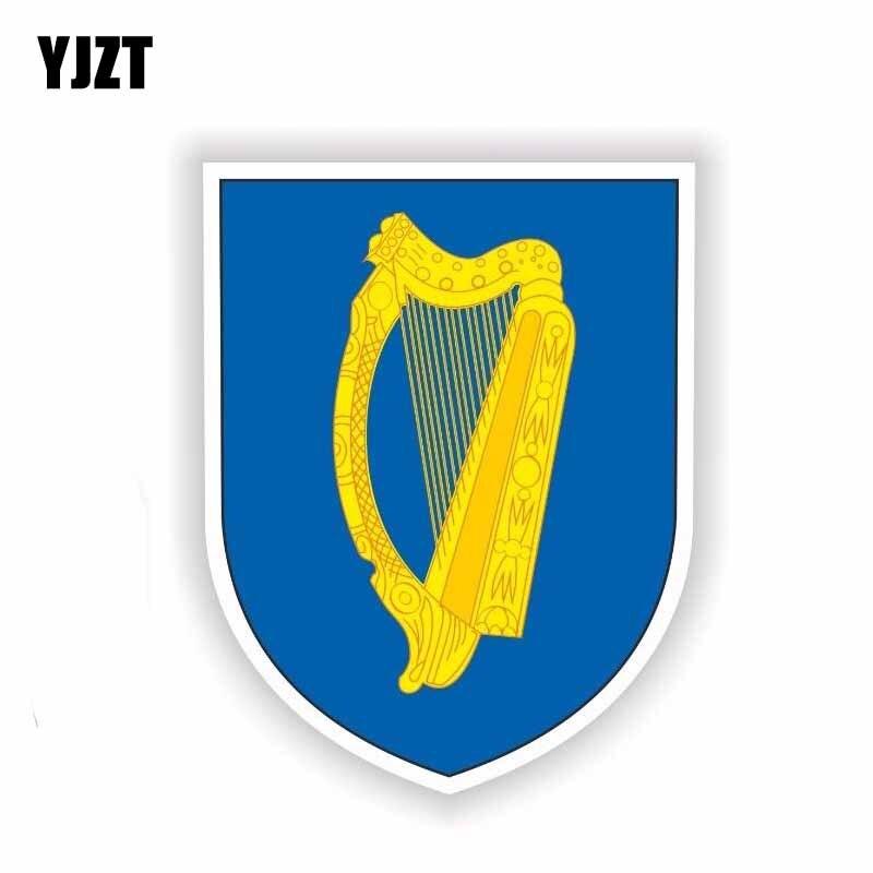 Yjzt 10.3 Cm * 13.8 Cm Persoonlijkheid Ierland Wapenschild Auto Sticker Hele Lichaam Bike Decal 6-1858