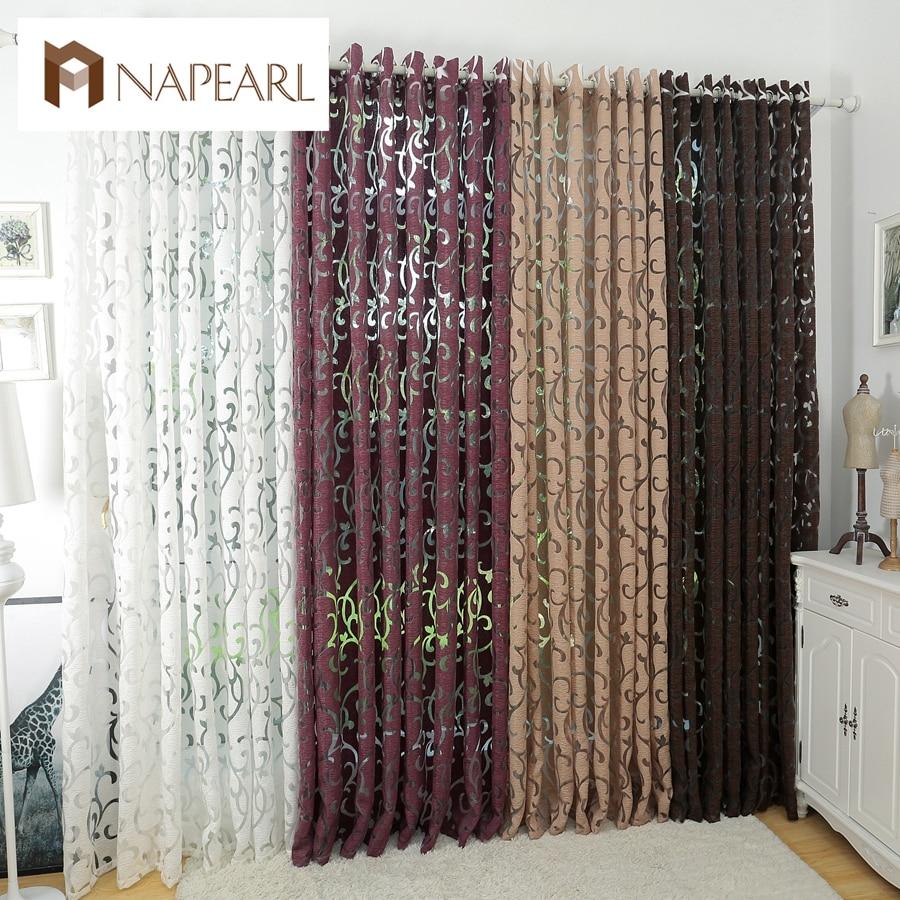 Cortinas semi-opacas de estilo moderno de lujo, cortinas de cocina, ventana, sala de estar, cortina, panel de tela jacquard, puerta