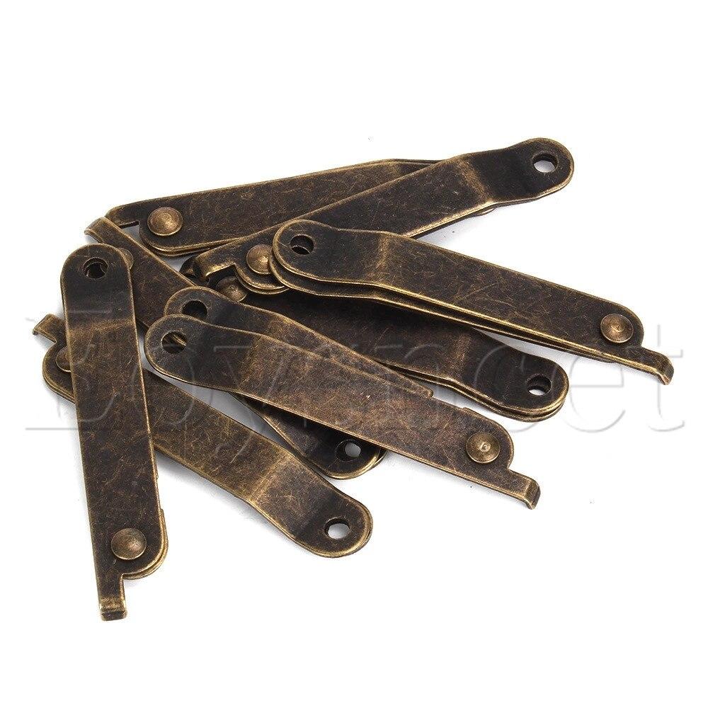 8 Uds. Muebles de bronce tapa decorativa soporte bisagra tamaño S reemplazo de hogar