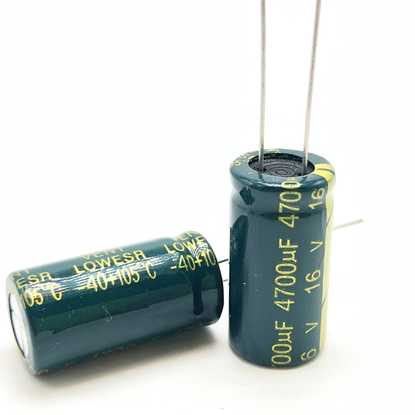 50 Uds 16v 4700uf 13*25 alta frecuencia de baja impedancia condensador electrolítico de aluminio 4700uf 16v 20%