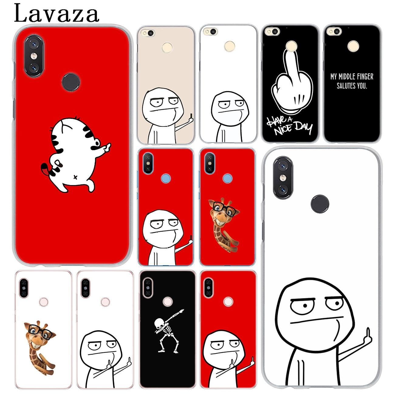 Lavaza meme face  Middle Finger Funny Cartoon Lovers Case for MI 10 9 9T CC9 CC9E A3 Pro 8 SE A2 Lit