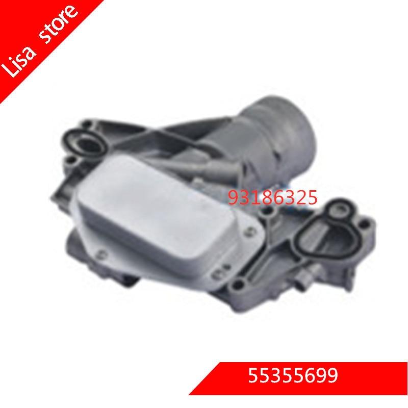 Enfriador de aceite de motor para OPEL ASTRA H (A04) 1,6 Turbo para OPEL OEM 55355699, 93186325, 5650365,