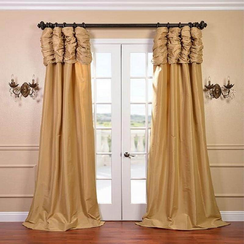 Cortinas de luxo para a janela do quarto de luxo personalizado pronto feito tratamento janela/cortinas para sala estar/quarto painel de cor sólida