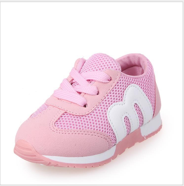 Zapatos informales de verano de 1 a 5 años para bebés y niñas, zapatillas deportivas transpirables de moda para niños, zapatos deportivos de fondo suave de alta calidad