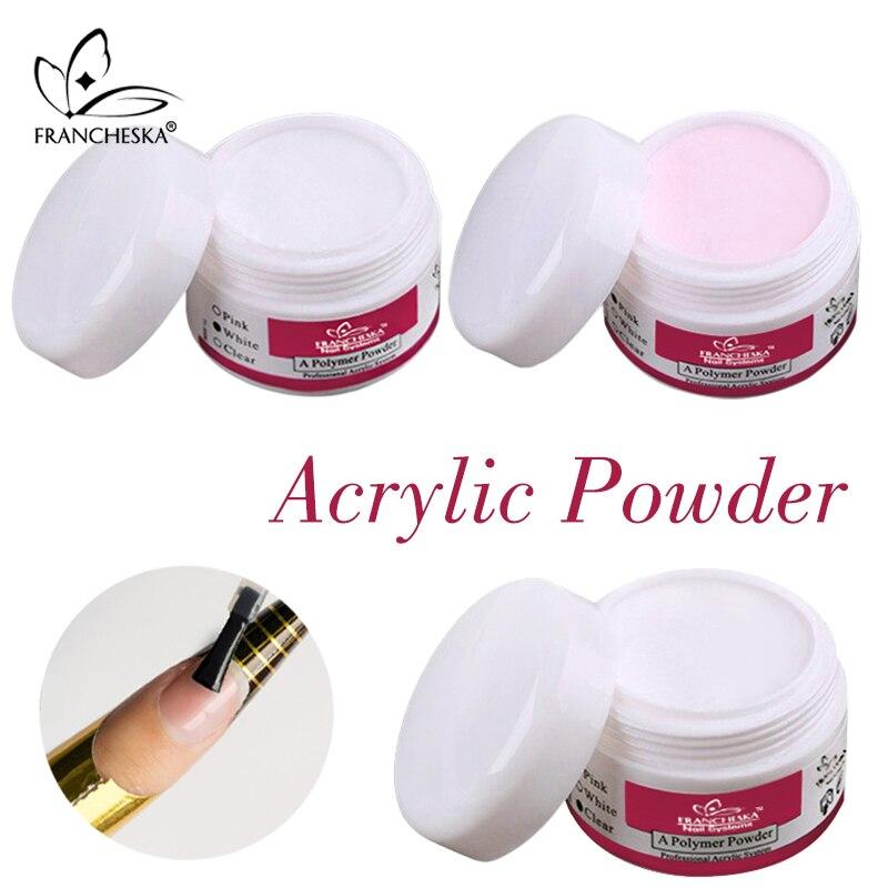 Francheska unas acrilicas acryl pulver acrilic pulver nagel acryl pulver acrilico para unas akrilik tirnak 15 ml DIY Französisch nagel