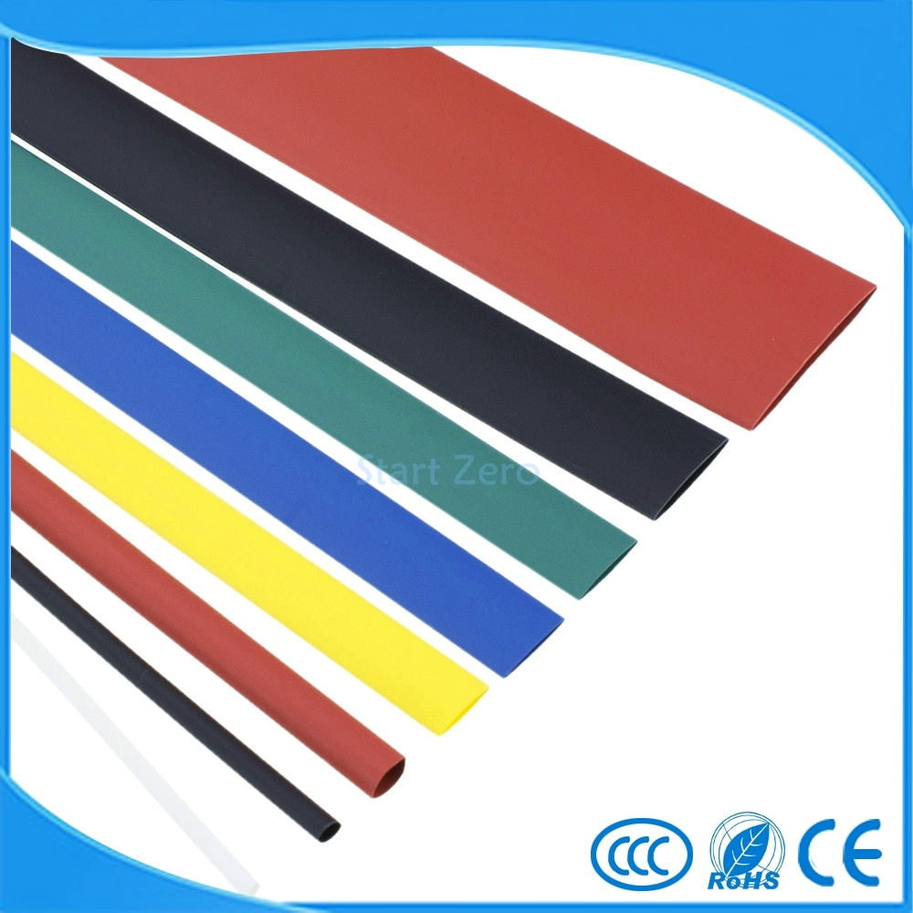 Электронные термоусадочные трубки, 7 цветов, 18 мм/20 мм/22 мм/25 мм/30 мм/35 мм/40 мм/50 мм, 2:1 термоусадочная трубка, 1 м