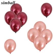 Ballons en Latex or Rose 3.2g 10 pièces   Ballons à hélium pour décoration de mariage, fête danniversaire, ballons à feuille daluminium pour la saint-valentin, fournitures de décoration