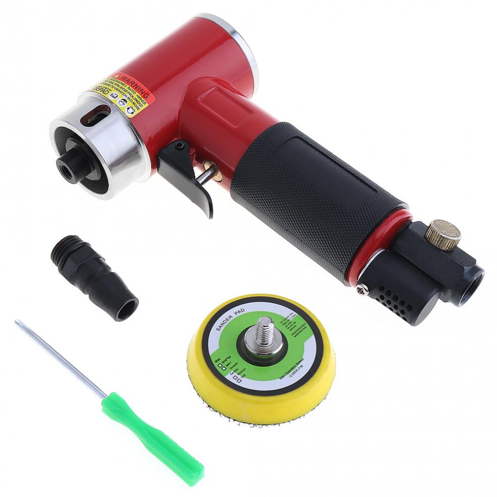 2 Inch Straight Heart High-speed Mini Pneumatic Sanding Machine with Push Switch and Sanding Pad for Polishing Accessories