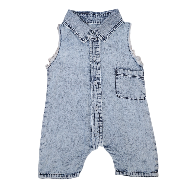 Nascido bonito Da Criança Infantil Do Bebê Menina Sem Mangas Denim Romper Jumpsuit Roupas Outfit Sunsuit