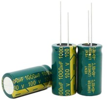 25V10000UF 100V1000UF 10000UF 1000UF 100V 25V 18*35MM alta frecuencia baja impedancia condensador electrolítico de aluminio