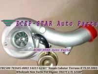 TB2580 703605-0003 703605-0001 703605 14411-G2407 Turbo Turbocharger For Nissan Cabstar Terrano II TL18 2001- TD27T TD27TD 2.7L