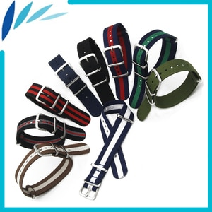 Nylon Watch Band 18mm 20mm for Cartier Watchband Stainless Steel Pin Buckle Strap Wrist Loop Belt Bracelet Black Brown Green Red