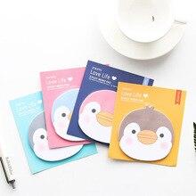 Mignon mémo bloc-Notes Kawaii autocollants papier autocollant calendrier décor Message dessin animé Animal pingouin école bureau papeterie approvisionnement