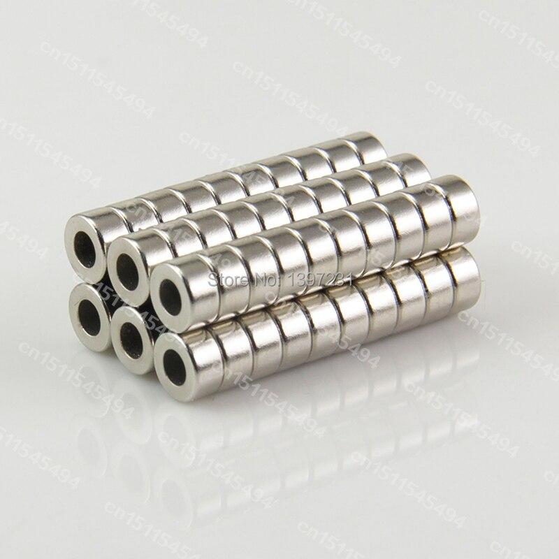 50 Uds 6x3mm agujero 3mm n50 de la tierra rara industrial imanes de NdFeB fuertes de imanes de neodimio anillo