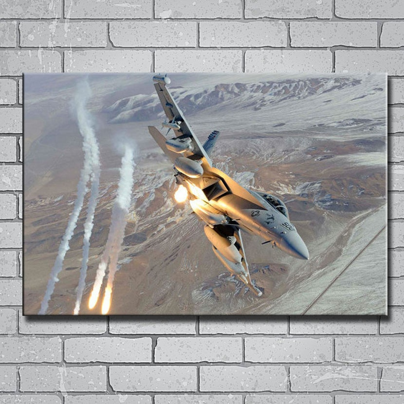 Y109 FA-18 Super Hornets aeronave militar fans 14x21 24x36 27x40 pulgadas arte impresión de cartel de seda lienzo pegatina de pared