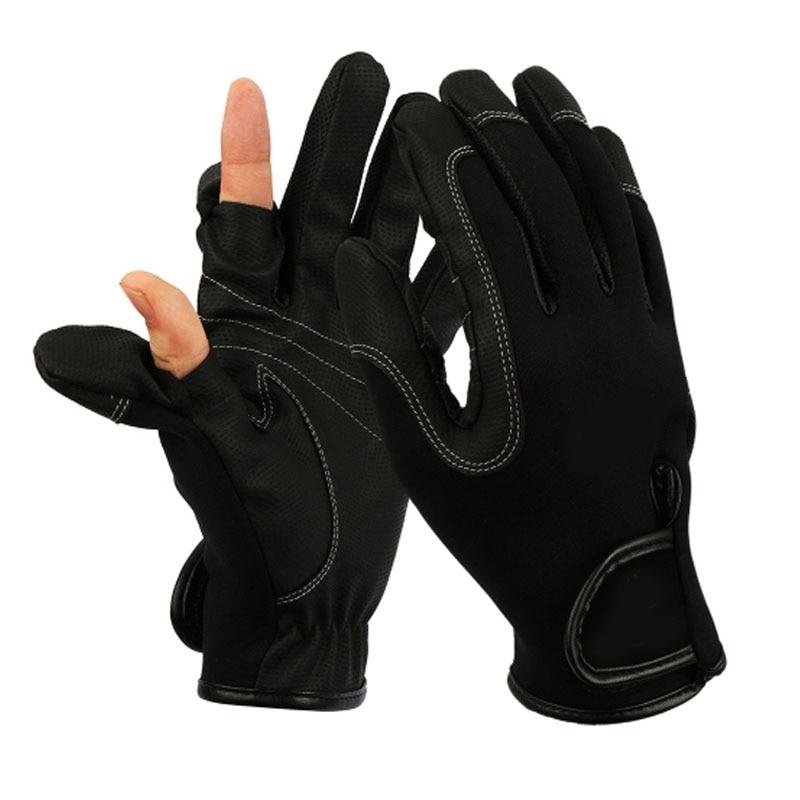 Outdoor Waterproof Photography Hunting Gloves Men Winter Fishing Gloves  Luva Fishing
