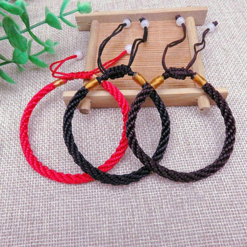 ANGELADY 1 Pza pulsera trenzada cuerda hecha a mano ajustable regalos de la suerte cadena par pulseras joyería decoración hombres mujeres