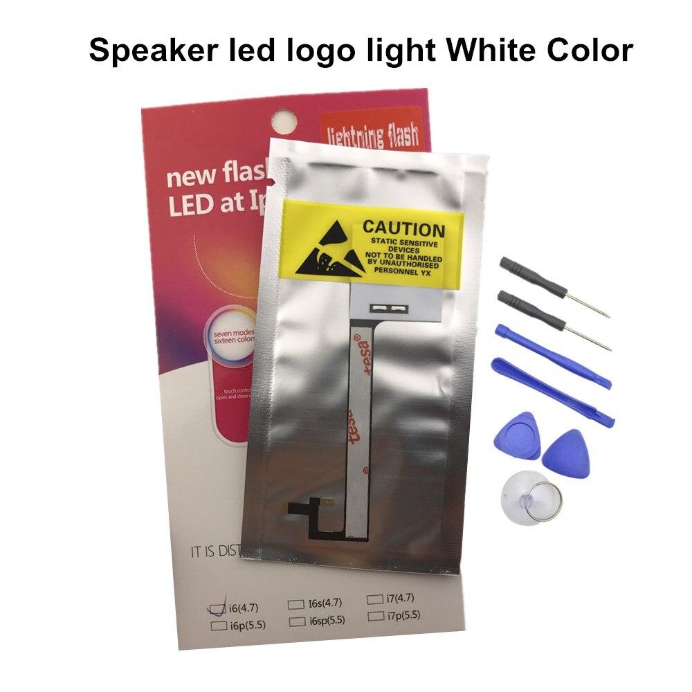 SZYSGSD светящаяся в темноте Светодиодная лампа с логотипом для iPhone 6 6s 6s Plus Светодиодная лампа для iPhone 7 7 Plus Светодиодная лампа с логотипом вспышка белый Бесплатные инструменты