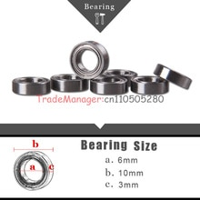 Toy car Brand new bear  10PCS Miniature Radial Ball Bearings 6*10*3 imported bearings free shipping
