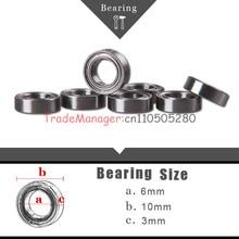 Toy car Brand new bear  10PCS Miniature Radial Ball Bearings 6*10*3 imported bearings free shipping