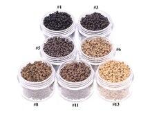 Silicone 7 couleurs LZH0081   100 pièces, diamètre 2.9mm, perles de cheveux, Nano anneau, Micro perles de mode Salon de coiffure, outils dextension de cheveux