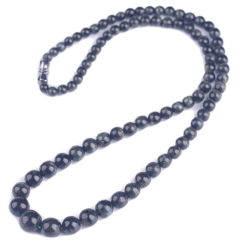 Оптовая продажа темно зеленое искусственное ожерелье с бусинами Lucky для женщин