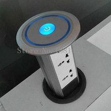 Intelligent lifting pop up desktop socket/Domotical Smart Motorized pop up socket high class and modern kitchen power grommet