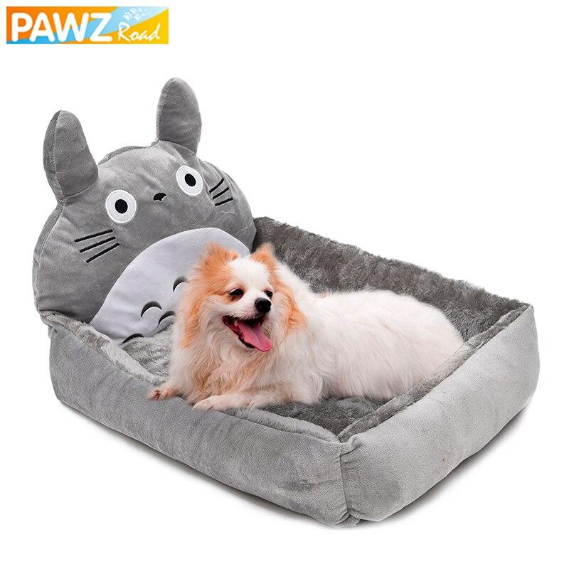 Camas para perros PAWZRoad, sofá de diseño de dibujos animados, casa de moda, nido de algodón suave y cálido, perrera extraíble, esteras para gato, espaciosas