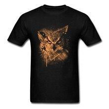 Hommes T-shirts cosmique hibou t-shirt personnalisé Mans t-shirt mode noir vêtements Sumer coton tissu hauts et T-shirts livraison gratuite