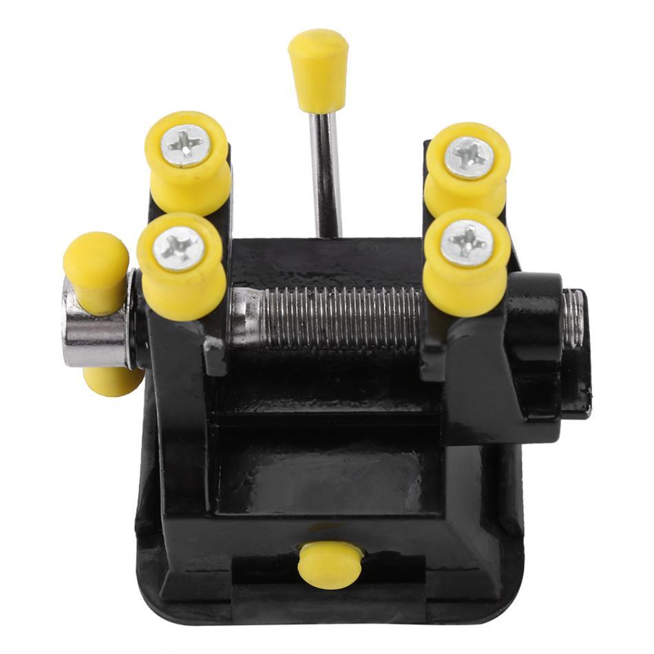Mini banco de Banco Hobby Mesa joyería artesanal abrazadera herramienta de reparación con succión inferior 50mm apertura de la mandíbula