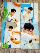 Firmado Hu yitian autografió la foto original un amor tan hermoso 6 pulgadas 4 fotos set envío libre 122017B