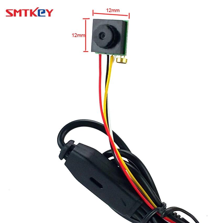 Мини-камера видеонаблюдения 600TVL CMOS, маленькая линза, для домашнего использования, SMTKEY