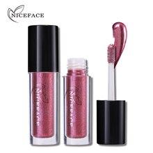 NICEFACE Pro métallique rouge à lèvres liquide étanche 24 H durable mat brillant à lèvres Nude lèvres Stick tatouage maquillage cosmétique beauté outils