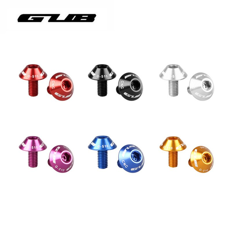 GUB 6 Cores M5 * 12mm Parafusos Tipo de Guarda-chuva Da Liga de Alumínio Da Garrafa de Água Gaiola Garrafa de Água Titular Rack de Suporte parafusos 2 Pcs