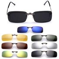 Поляризованные солнцезащитные очки на клипсе для мужчин, мужские очки для вождения с линзами ночного видения, мужские солнцезащитные очки ...
