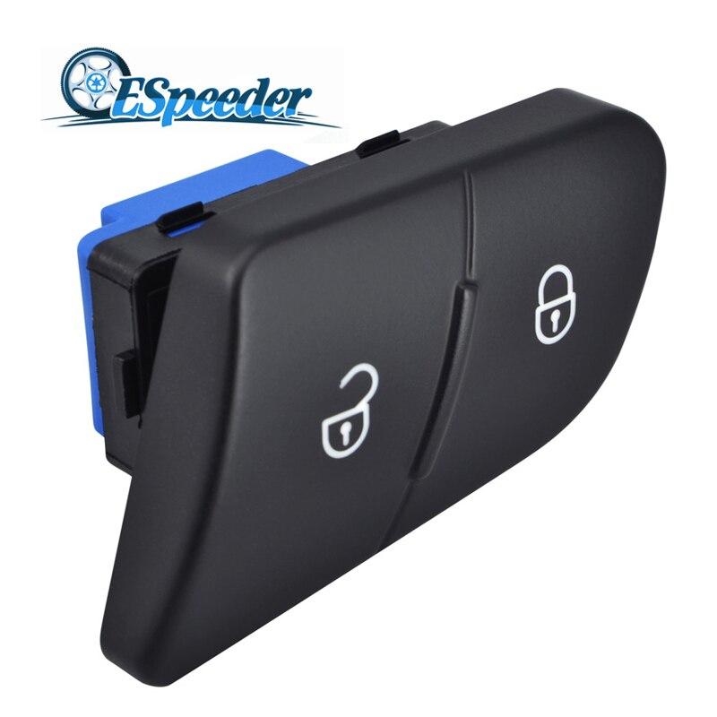 ESPEEDER interruptor de bloqueo Central de la puerta del conductor de la unidad izquierda interruptor de la puerta de desbloqueo del lado del conductor para VW Passat B6 3C 3C0962125B