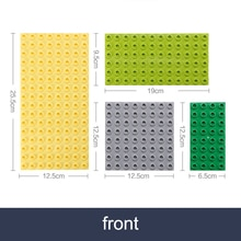 Double side Baseplates for Big Bricks Big Particle Building Block Double-sided Mother Board Compatib