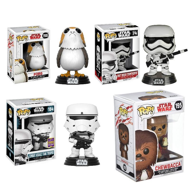 Funko POP STAR WARS & PORG, CHEWBACCA PVC colección de figuras de acción modelo juguetes para niños regalo de cumpleaños con caja al por menor