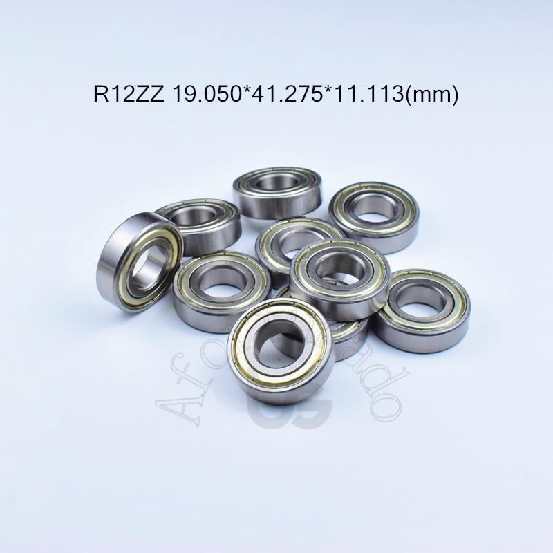 R12ZZ 19.050*41.275*11.113(mm) 10 قطعة ABEC-5 محامل المعادن الحاملة مختوم الكروم الصلب تحمل R12 R12Z R12ZZ