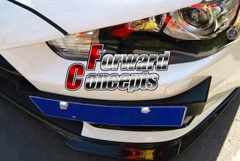 Para fibra de carbono 08-17 Lancer CJ ES Evo 10 X lancer vrx soporte de matrícula colgada lateral