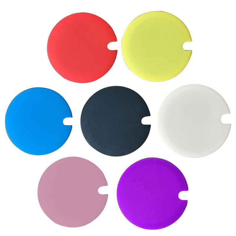 Tampa de copo de cor doce geral de silicone tampa de copo de isolamento térmico capa de copo à prova de vazamento à prova de poeira tampa de copo reutilizável